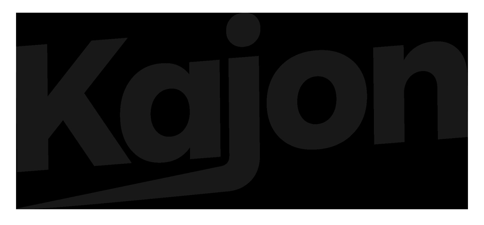 Kajon logo musta